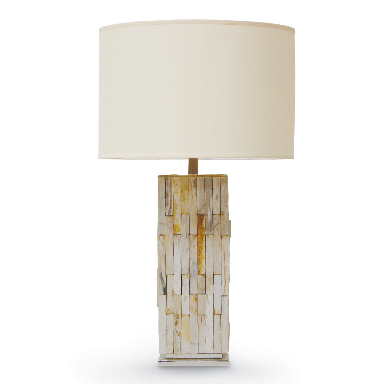 Palecek description natural petrified wood table lamp geotapseo Images