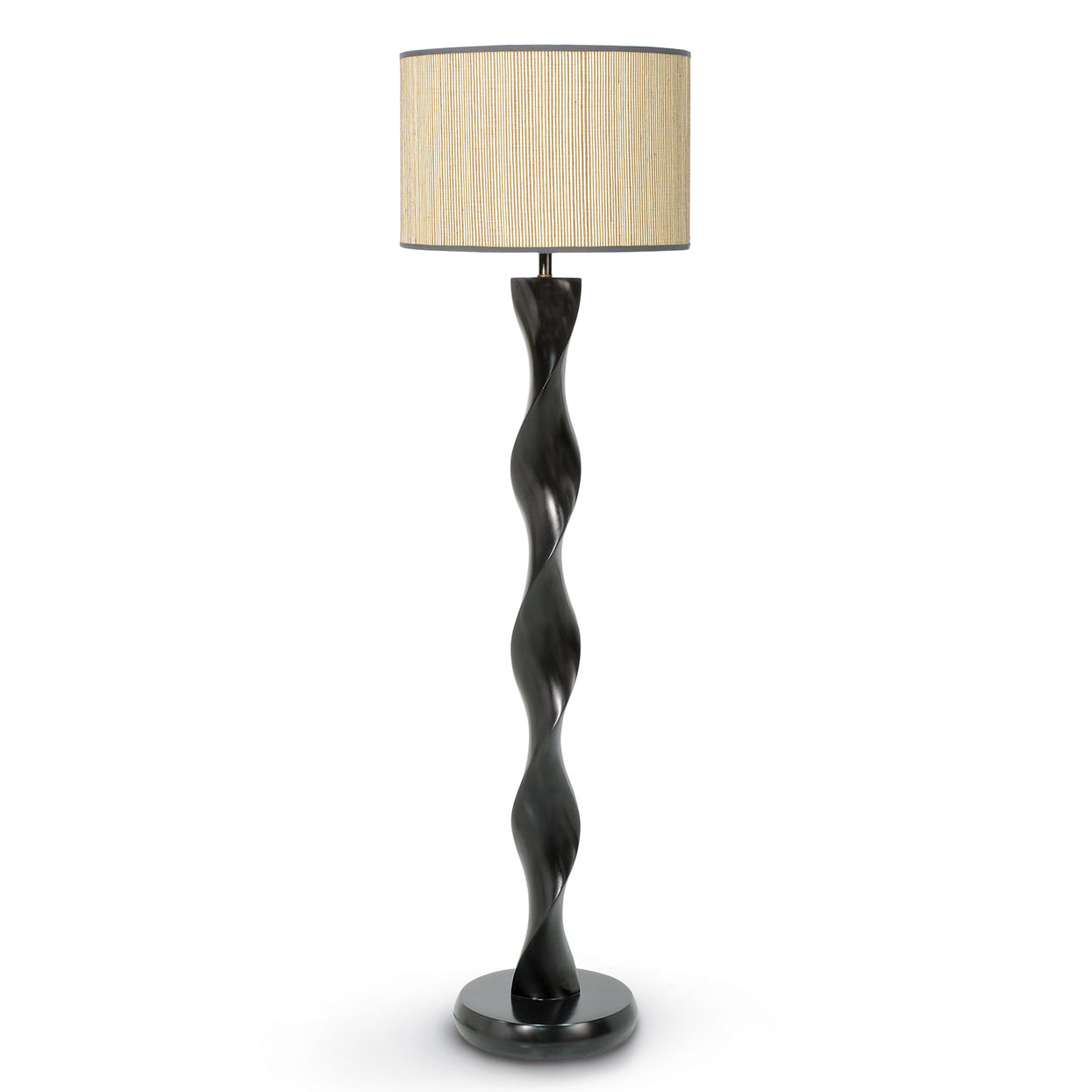 Palecek for Spiral wood floor lamp
