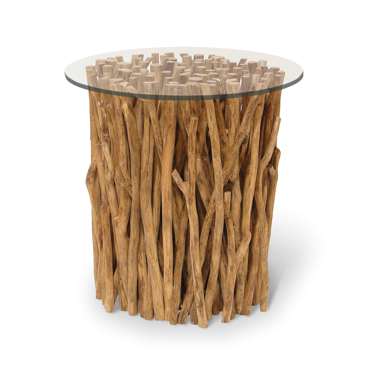 Driftwood Bundle Stick Side Table Base