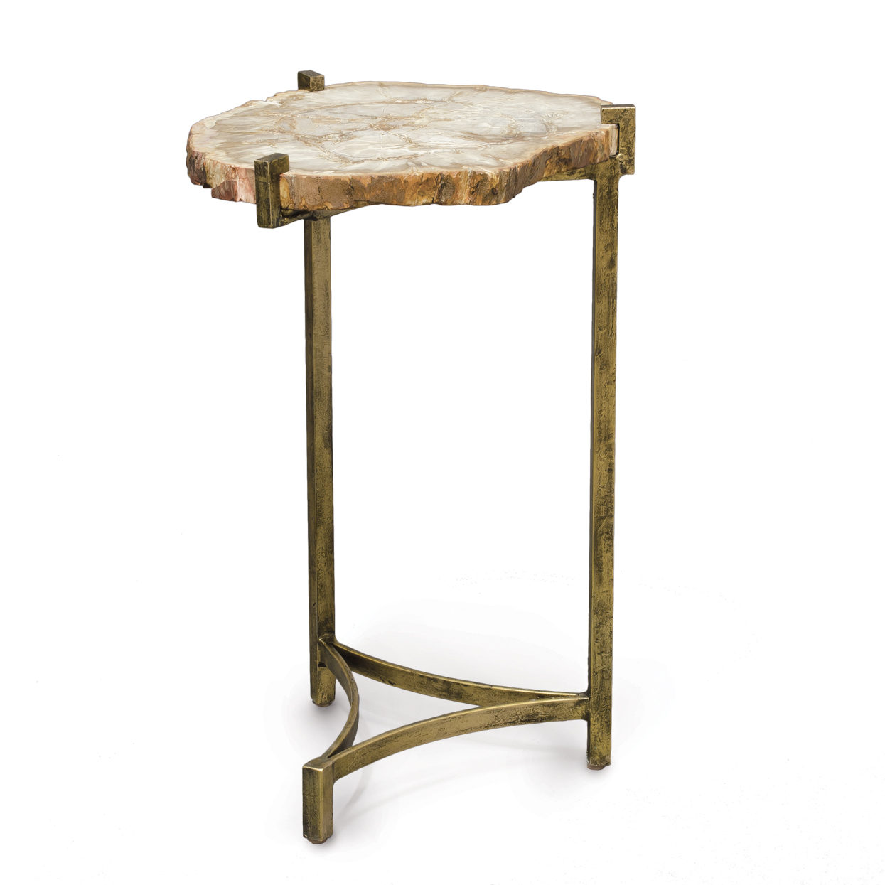 Petrified Wood Slide Side Table
